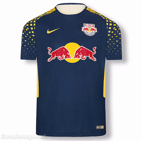 Red Bull Leipzig 2017-18 Away Shirt Soccer Jersey